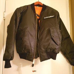 In4mation Hawaii Bomber Jacket Black XS Stüssy